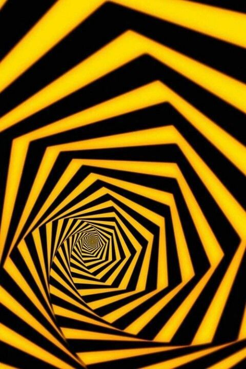 optical yellow illusions op illusion eye tricks universe pop vision geometric test chaos psychedelic colour arte personality geometrico female colors
