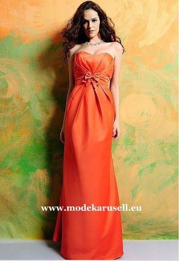 Abendkleid in Orange