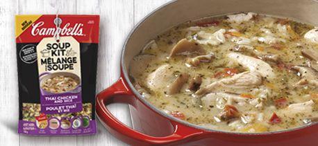 Soupe au Poulet Thaï et Riz