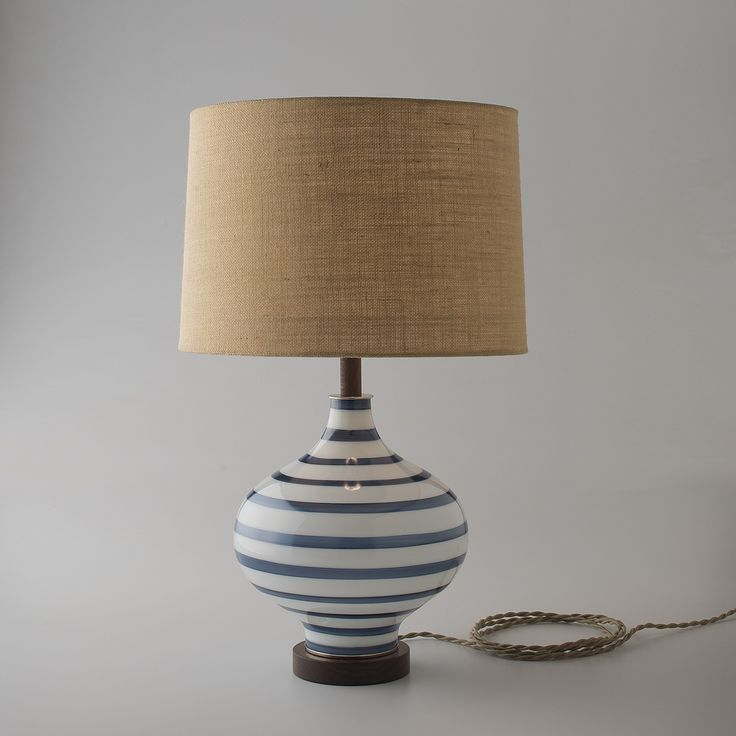 lafayette lamp navy stripe and popular burlap lamp shade design - Lamp Shades For Table Lamps