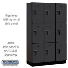 Extra Wide Designer Wood Locker - Triple Tier - 3 Wide - 6 Feet High - 18 Inches Deep