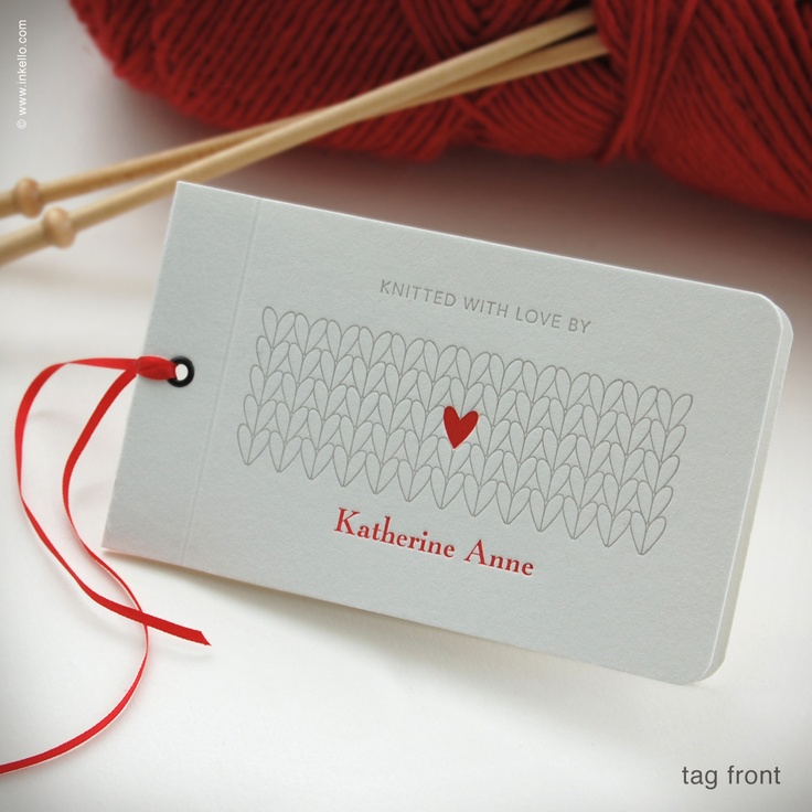 knitting tags... I should maybe invest in some of these?