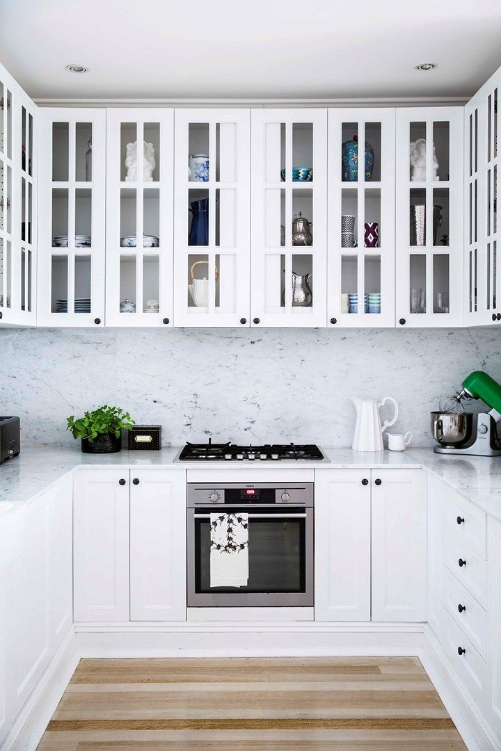 Clever use of space in this all white kitchen | Home Beautiful Magazine Australia