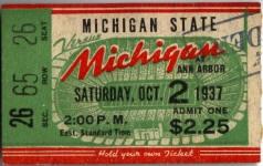 1937 at Ann Arbor: Michigan State 19, Michigan 14