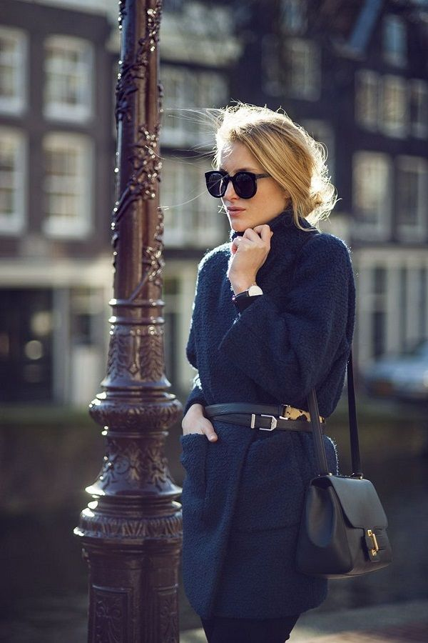 There is truly no better way to tie an oversized or chunky winter coat than with your boyfriend's or husband's old leather belt....