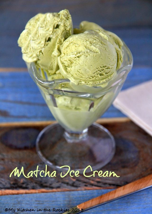 David Lebovitz's  Green Tea Ice Cream #recipe #icecream