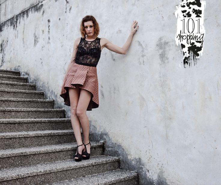 Gonna CristinaEffe fw2017 e top di paillettes e piume di Trussardi