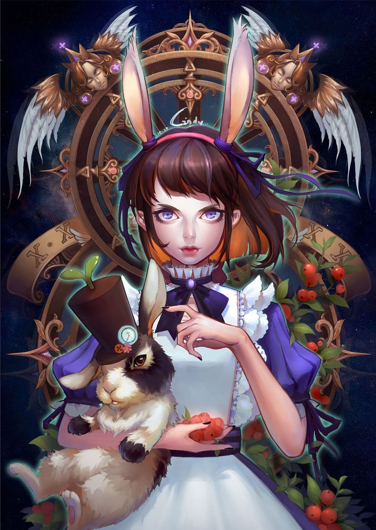 alice wonderland anime manga digital art Video Game