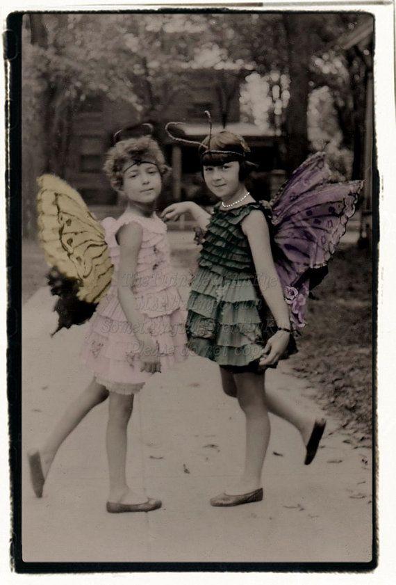 Farfalla ragazze Download digitali foto d'epoca di MsAlisEmporium
