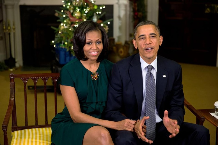 """Michelle and I want to wish you a Merry Christmas and a Happy Holidays."" —President Obama"