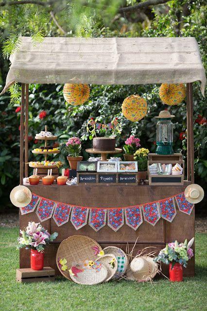 Decoração de Festa Junina - Ideias de como fazer uma linda festa de São João em casa por Bella Fiore