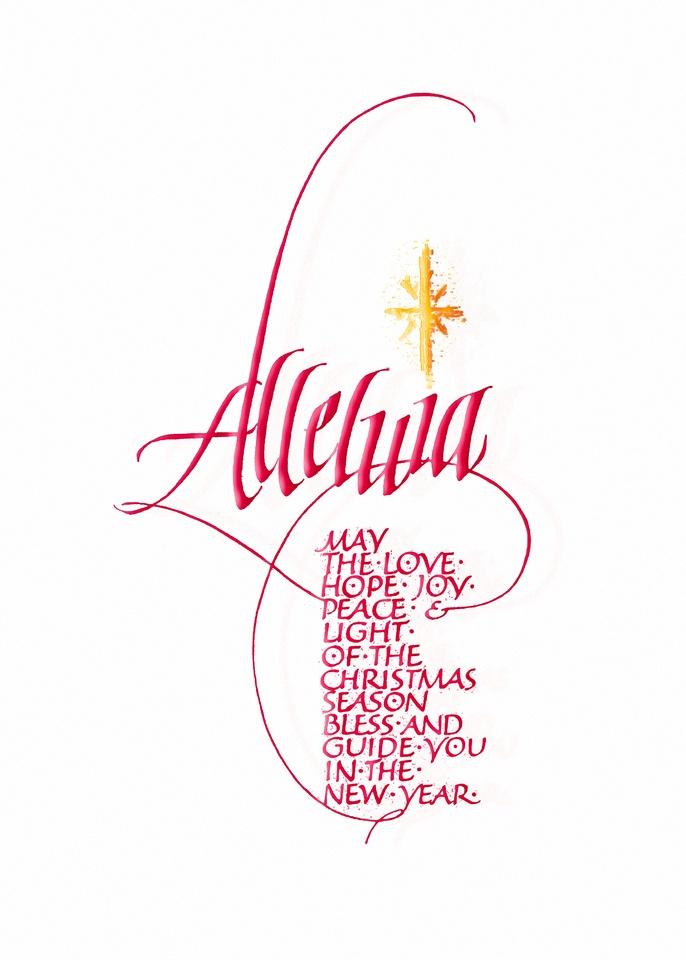 Alleluia judy dodds penscriptions calligraphy pens