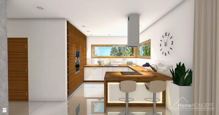 Projekt domu HomeKoncept 4 - zdjęcie od HomeKONCEPT Projekty Domów Nowoczesnych - Kuchnia - Styl Nowoczesny - HomeKONCEPT Projekty Domów Nowoczesnych