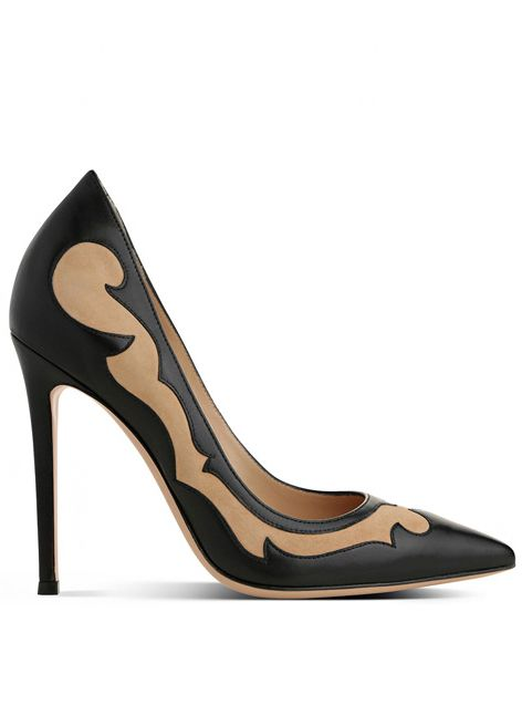 Gianvito Rossi. I like the sculpted swirls; nice touch for a neutral shoe