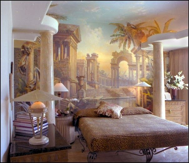 Where do i find a mural like this greek and roman for Greek bedroom decor