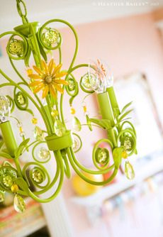 Green and Yellow Chandelier