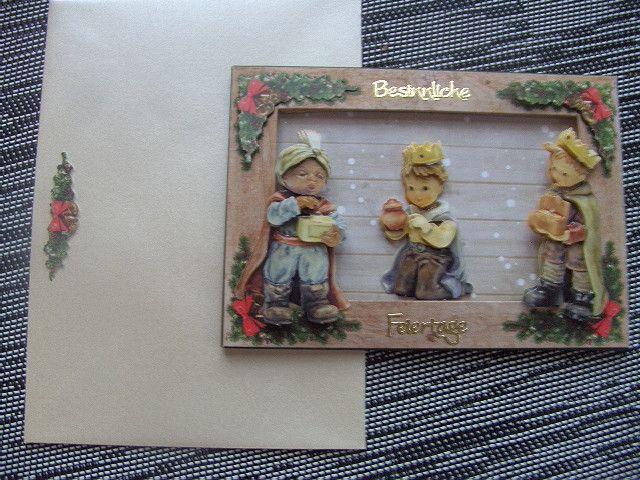 Weihnachten - 3D Bilderrahmenkarte Drei Könige - ein Designerstück von Petra1966 bei DaWanda