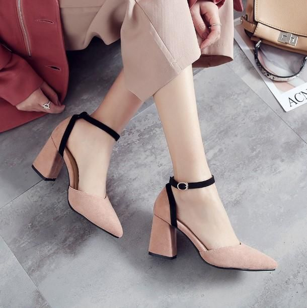 Small Size 3 Mid Block Heel Sandals For