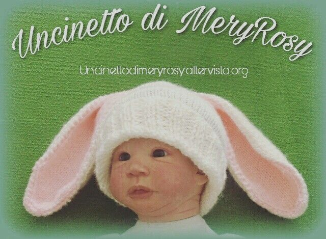 Hat Rabbit Baby Knitted #cappello #cappellino #lavoroamaglia #hat #knitting #knitted #fattoamano #diy #handmade #bebè #bebe #bimba #baby #coniglietto #rabbit