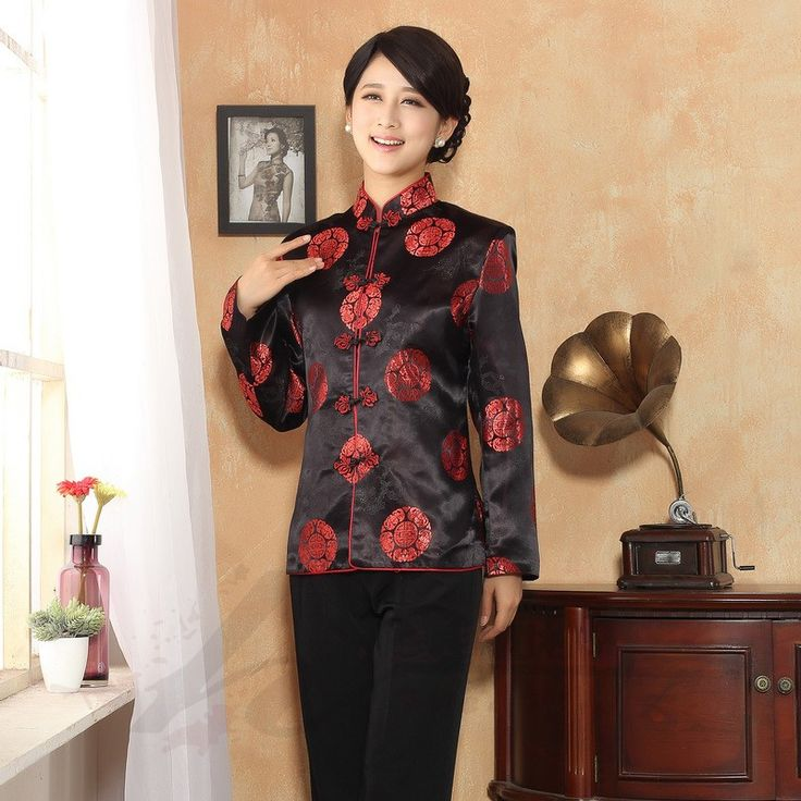 Delightful Brocade Frog Button Chinese Jacket - Black - Chinese Jackets & Coats - Women