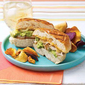 El almuerzo- bocadillo del pavo
