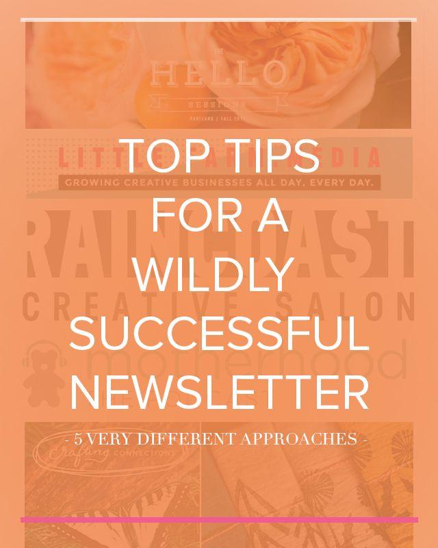 newsletter writing tips
