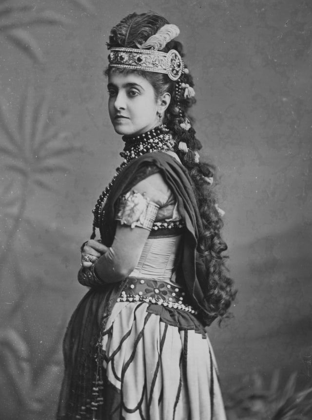 The Story of 'Aida,' Verdi's Famous Opera: Adelina Patti (1843-1919) as Aida in Verdi's opera Aida.
