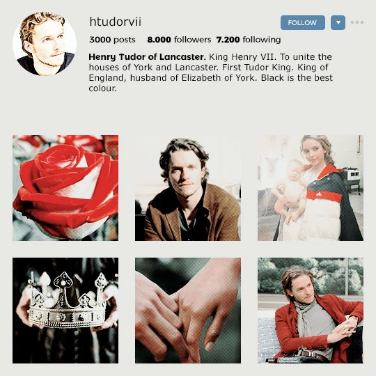 CLAUDIA AESTHETICS: Instagram edition Henry Tudor (King Henry VII of England). In which Henry has a red aesthetic, and really loves his wife and the crown. Most likely all photos of him in the account...