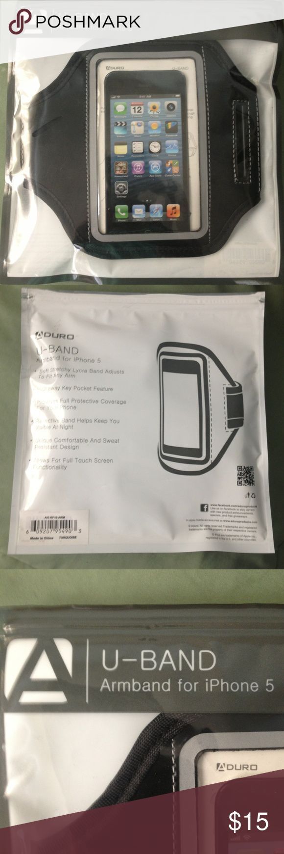 Aduro U-Band Armband for iPhone 5 Aduro U-Band Armband for I.Phone5 black NIP Aduro Accessories