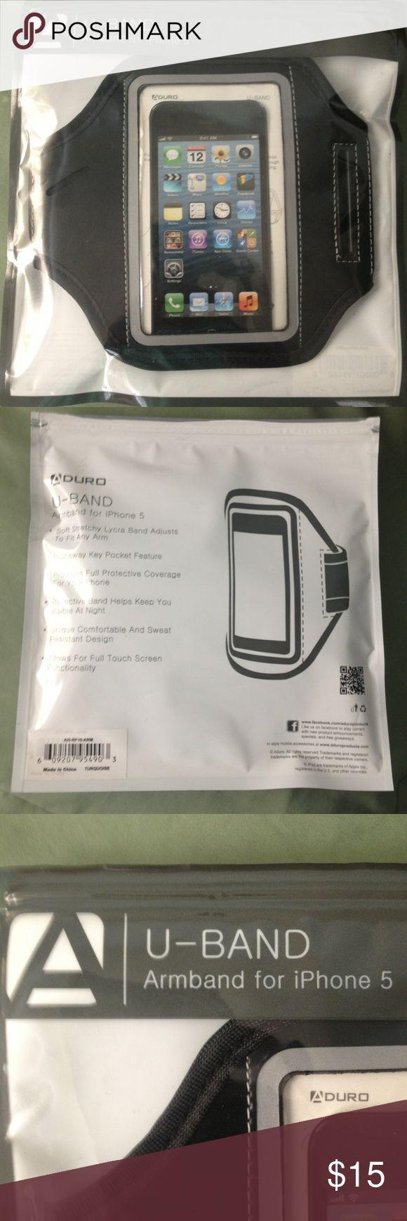 Aduro U-Band Armband for iPhone 5 Aduro U-Band Armband for I.Phone5 black NIP Aduro Accessories