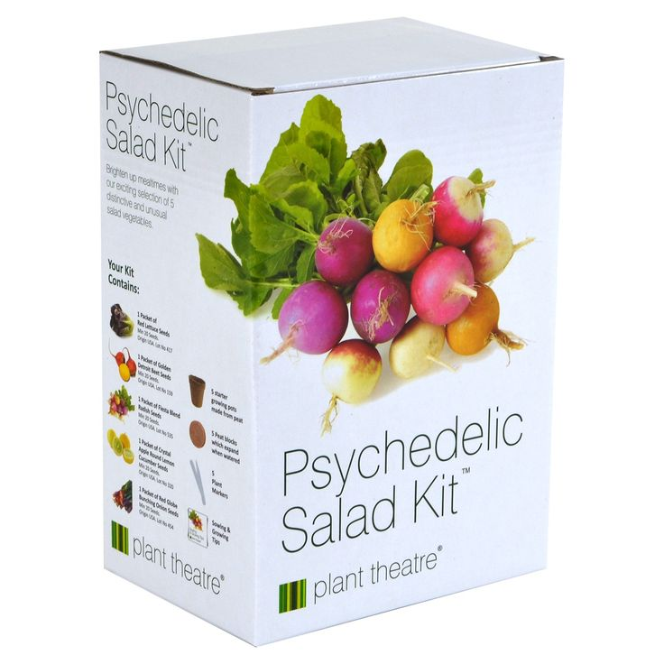 Plant Theatre Psychedelic Salad Kit - 5 Fantastic Salad Vegetables to Grow