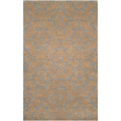 @Overstock - Hand-tufted in New Zealand wool, this rug features vibrant colors of beige, gray blue, gold. With beautiful details and a plush pile, this rug is a perfect addition to any home.http://www.overstock.com/Home-Garden/Hand-tufted-Jal-Beige-New-Zealand-Wool-Rug-5-x-8/6514270/product.html?CID=214117 $625.99