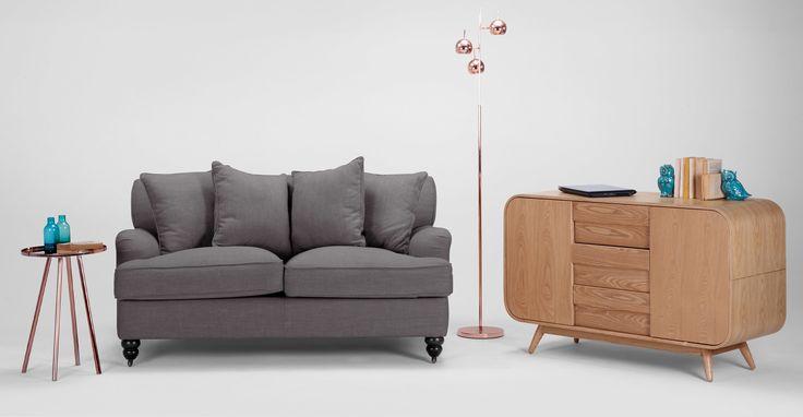 Flexsteel Sofa Orson Scatter Back Seater Sofa Graphite Grey