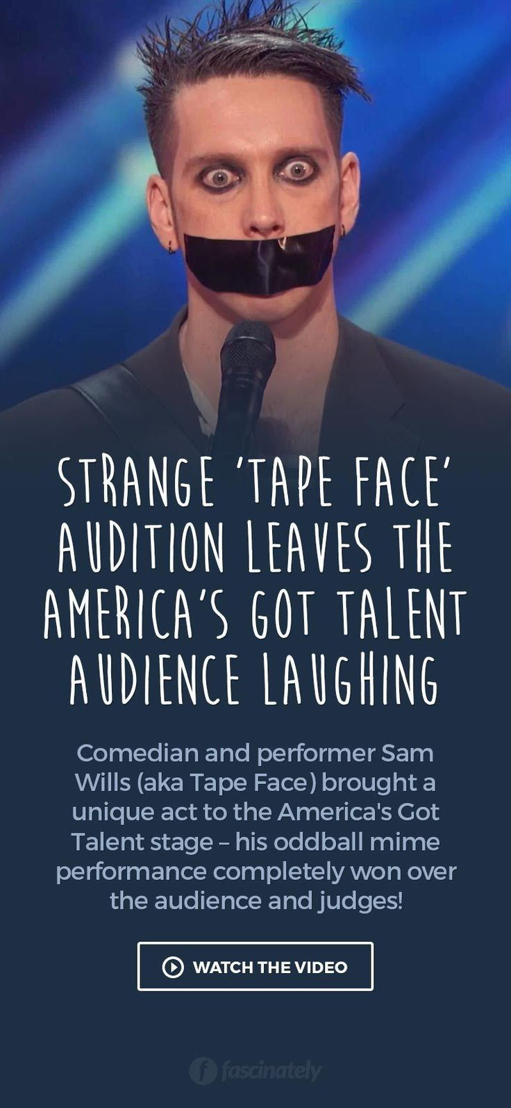 Strange 'Tape Face' Audition Leaves the America's Got Talent Audience Laughing