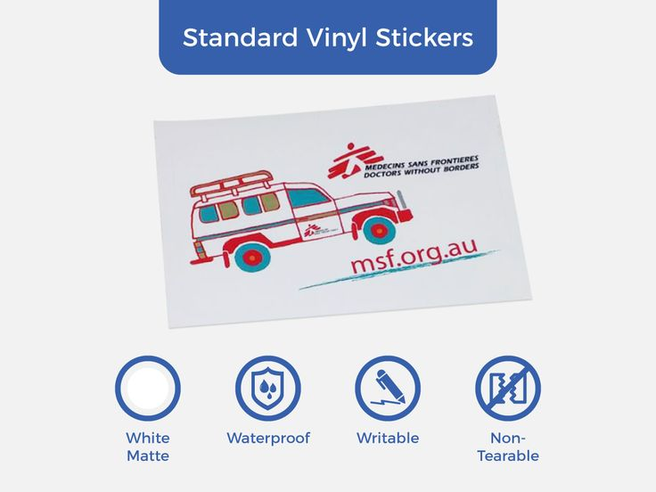 In case you've missed it, here comes another infographic for our Standard Vinyl Stickers. Our most popular waterproof labels.