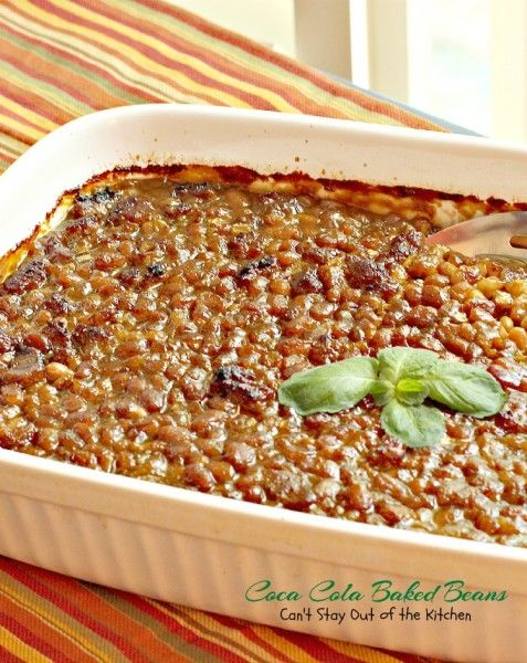 Pinner said ~ Coca Cola Baked Beans | Can't Stay Out of the Kitchen | this is a healthier version than it sounds like because it uses Virgil's natural