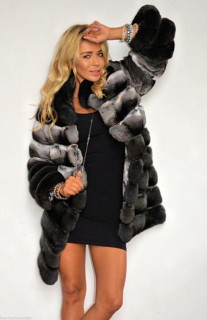 chinchilla furs  - new 2016 lafuria chinchilla fur coat