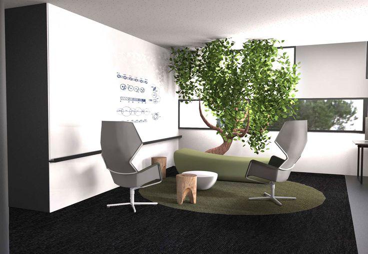 Pravda Stand Design. Design bureaux open space. Espace détente