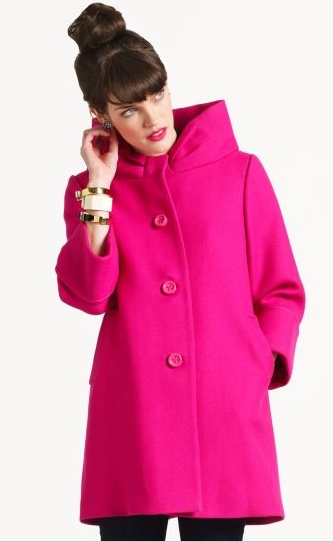 Fun with fall peacoats. I need a new brightly colored one like this for next fall.