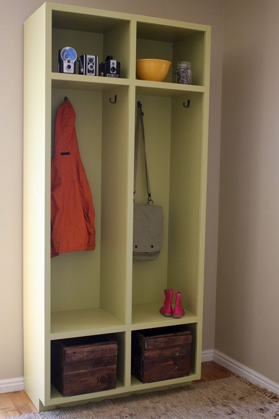Mudroom Storage Lockers Woodworking Plans | See more about Lockers, Woodworking and Woodworking Plans.