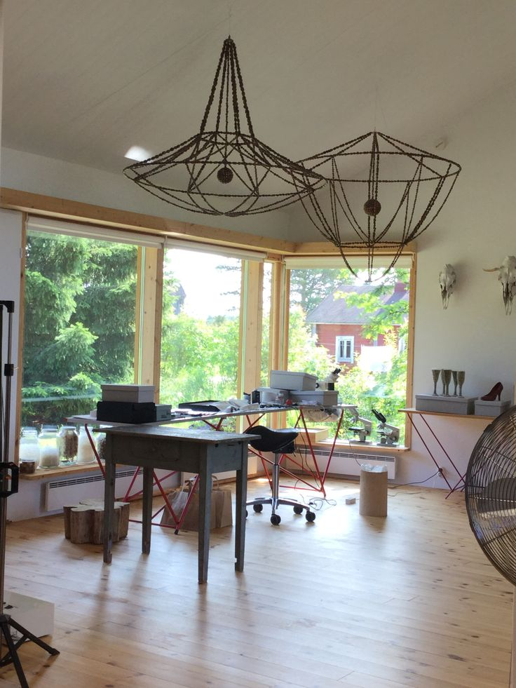 Interesting place to visit - studio of the known artist Anni who is using findings from nature in her art!