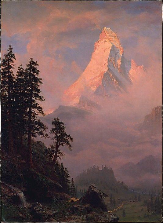 Sunrise on the Matterhorn-after 1875 Albert Bierstadt (American, Solingen 1830–1902 New York)