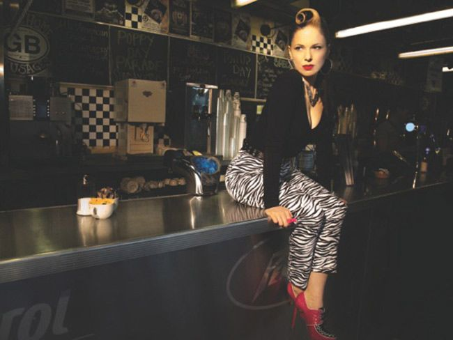 """Imelda May, theIrish rockabilly queen, whose third album, """"Tribal,"""" just launched in the US after debuting at #1 in Ireland and #3 in the UK.  Her American tour begins today. Here, she discusses her Tribes, rock and passion for U.S.  diners."""