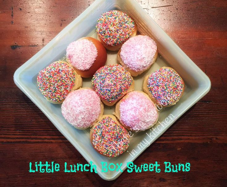 Recipe Little Lunchbox Sweet Iced Buns TM5 TM31 by There's a rainbow in my kitchen - Recipe of category Baking - sweet