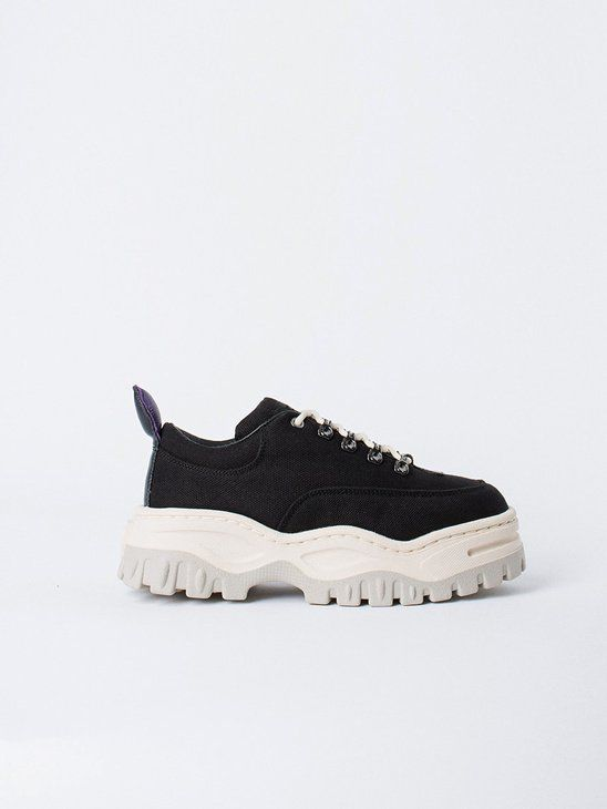 036312ab397432 APLACE Angel Canvas Black - Eytys Women s Sneakers