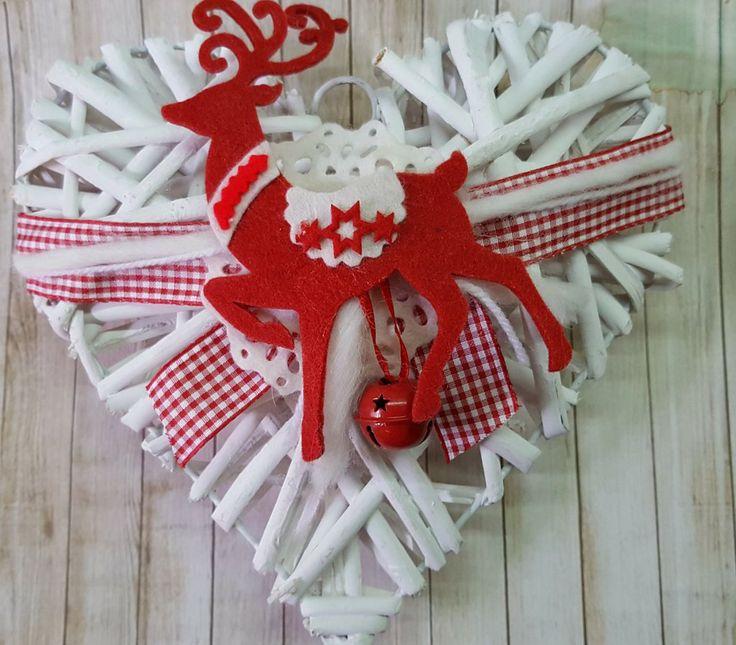 Cuore natalizio con renna, by Marzia Creazioni, 10,00 € su misshobby.com