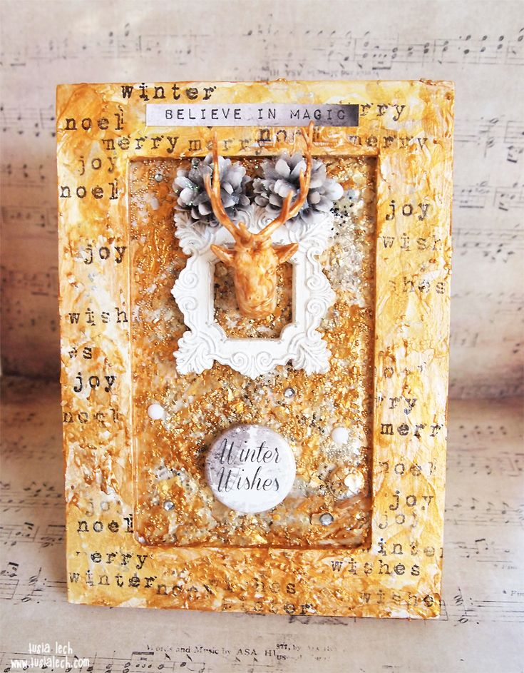Golden frame {Mixed Media Place}