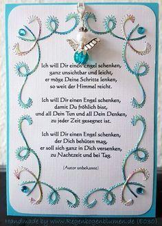 Geburtstag - Gastgeschenk / Glücksbringer Engel 30 mit Anhänger - ein Designerstück von Bastelfan1809 bei DaWanda