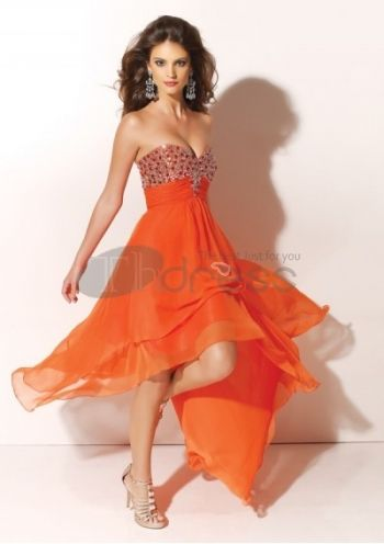 chiffon kjæreste stroppløse halsen 2312 nye kjoler til ball