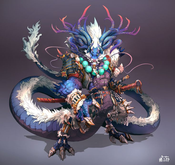 Dragonmen, 藤三郎 TOOMIRO on ArtStation at https://www.artstation.com/artwork/dragonmen